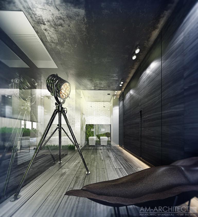 Интерьер пентхауса дом на Дворянской