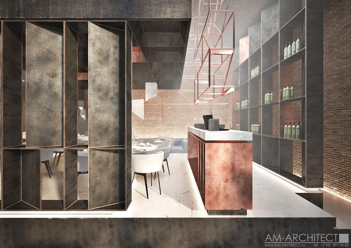 Ресторан - проект интерьера
