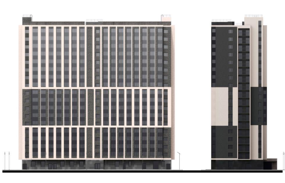 Апартамент-отель, фасадные решения