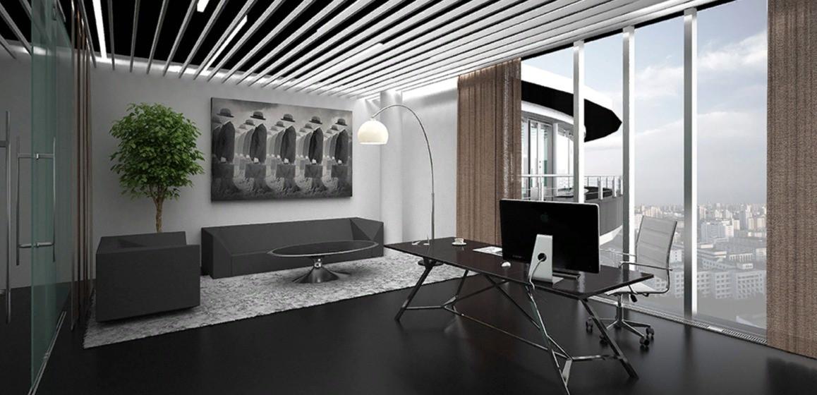 Балтийский деловой центр, интерьер офисного пространства