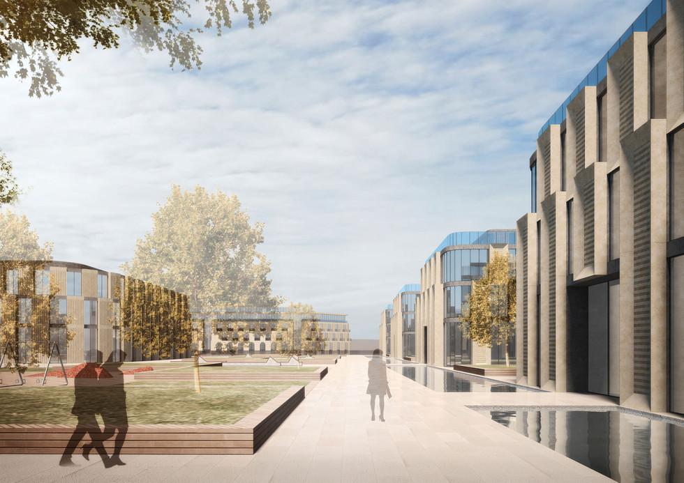 Визуализация архитектурного облика квартала, индивидуальные дома