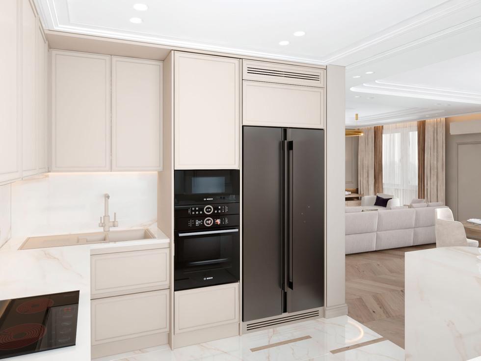 Барная стойка и кухня-ниша