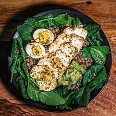 Lemon Pepper Chicken and Egg Protein Salad with Lemon Pepper Dressing