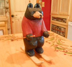 Hand carved bears and more