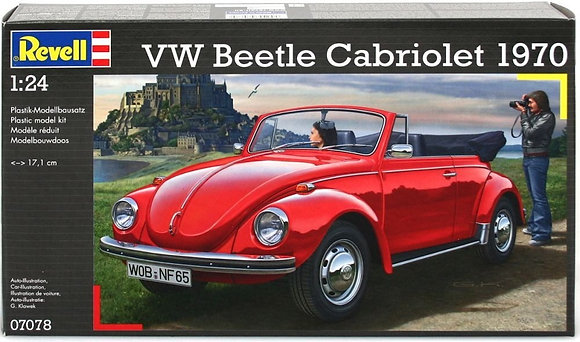 VW BEETLE CABRIOLET 1870 1:24