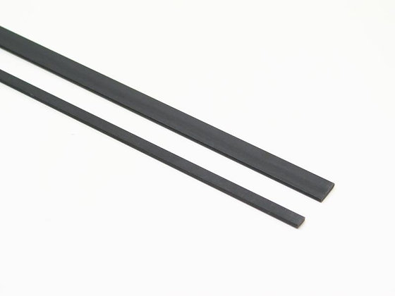 BARRA CARBONIO SEMI TONDA 6.0 x 3mm / 1M