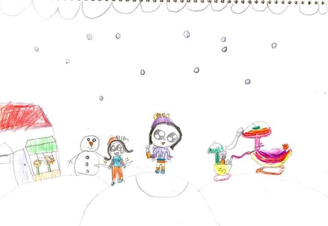 dec art Jamie Kim 1st  Christmas with Lo
