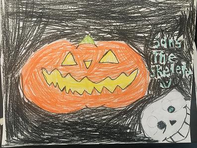 October Art grade 3 #1 Sans the skeleton