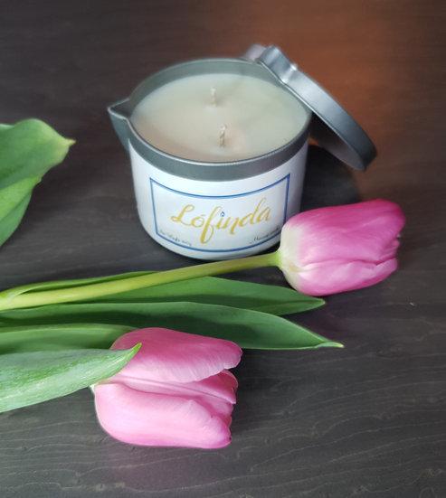 Peony & Blush Suede- Massage Candle