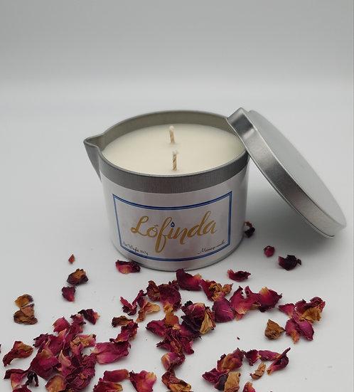 Rose & Rhubarb- Massage Candle
