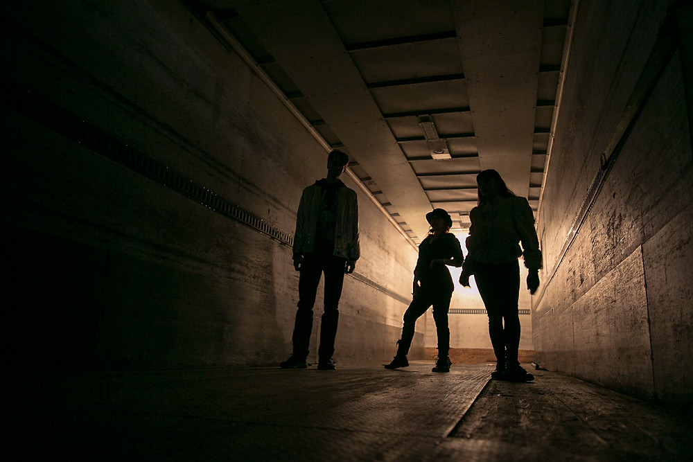 The members of Shadow Traffic