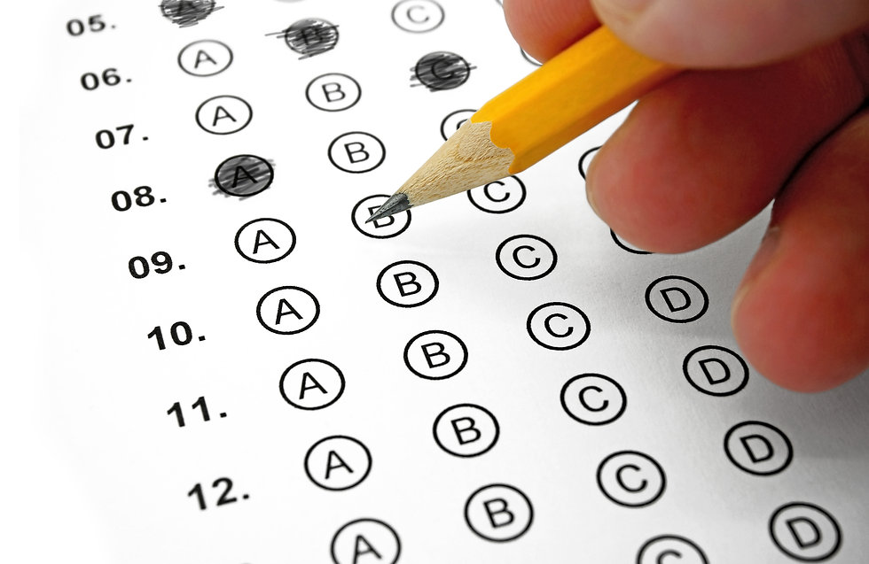 Filling out Answers on a Multiple Choice