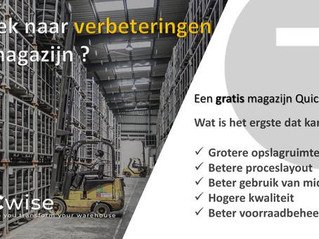 DCwise Services NL - Een gratis Quick-scan* van je magazijnoperaties zonder verplichtingen!