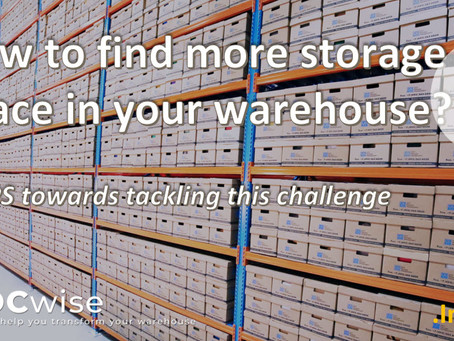 DCwise Insights - How to find more storage space in your warehouse? 4 tips