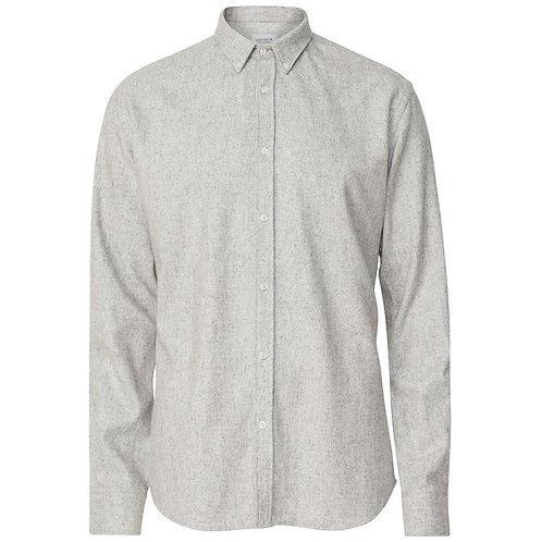 Les Deux Wool Pike Over Shirt - Light Grey