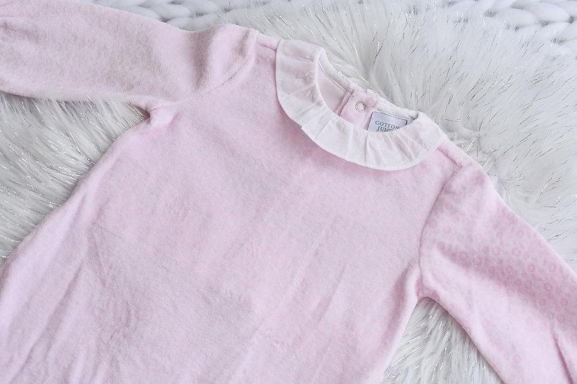 Toddler Pink Velour Sleepsuit