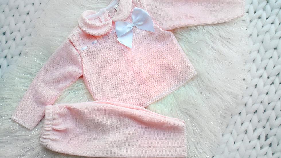 Mae Pink Classic Knit Lounge Set