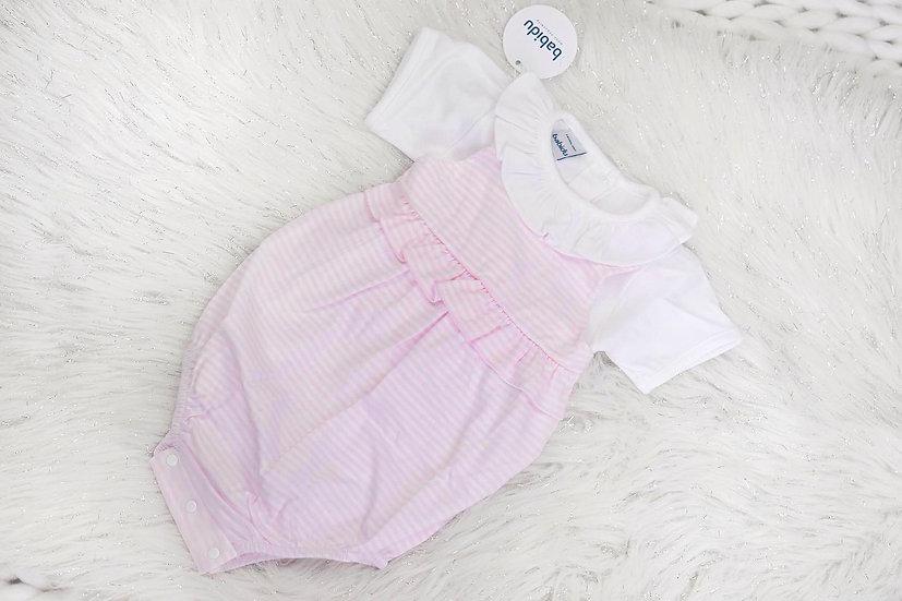 Pink Stripe Babidu Romper