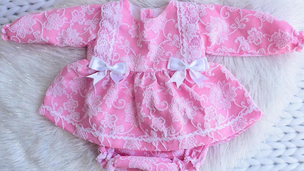 Arabella Kinder Lace & Bow Set (small sizing)