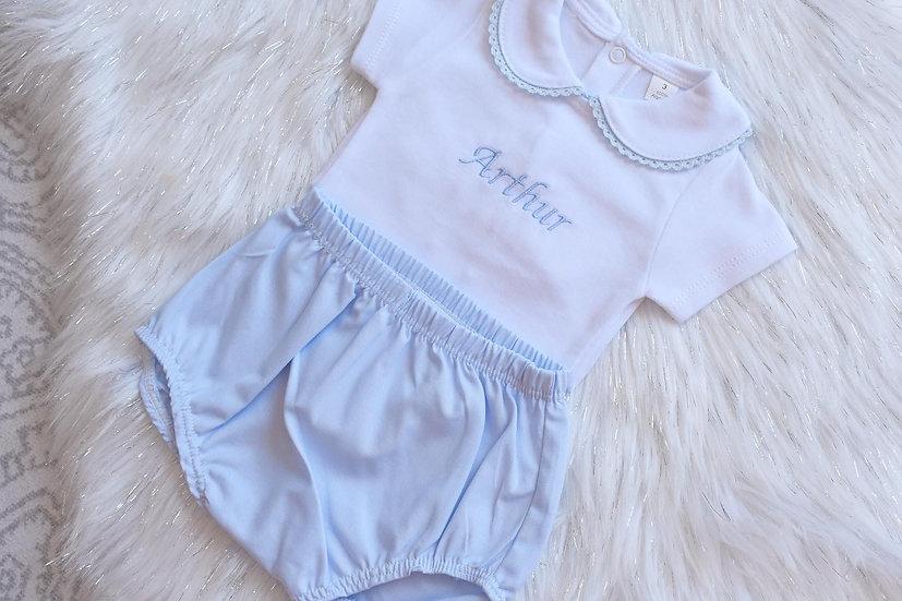 Blue Cotton Bloomers / Jam Pants