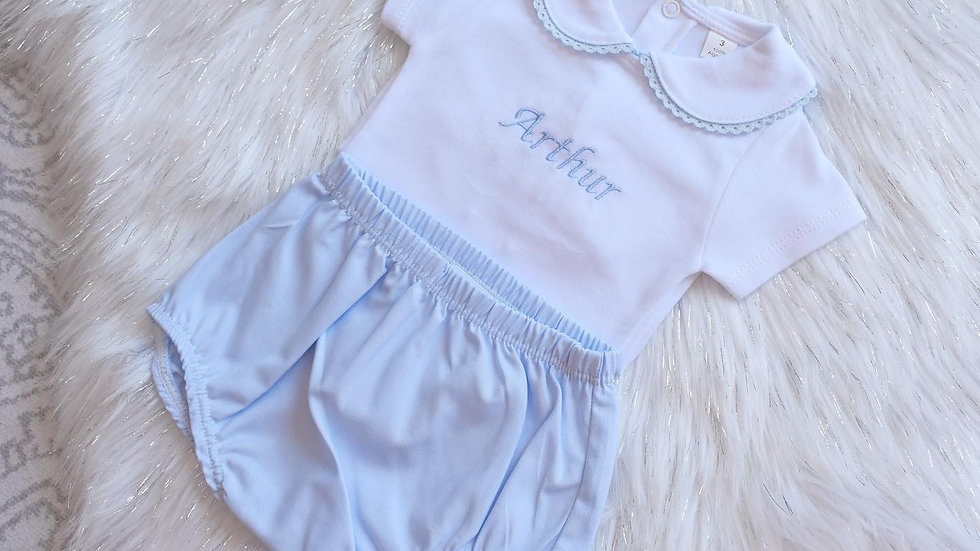 Blue Cotton Bloomers / Jam Pants