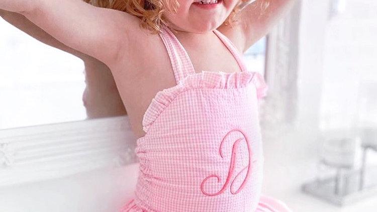 Cotton Gingham Swimsuit