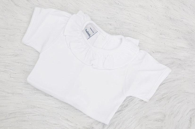 Frill Neck Short Sleeve Bodysuit (Babidu)