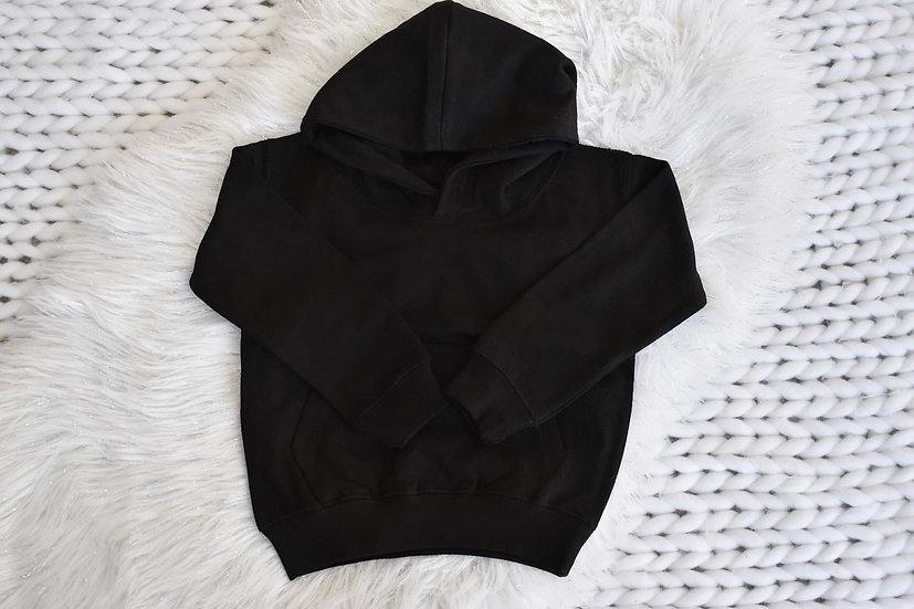 Black Pullover Oversized Hoodie