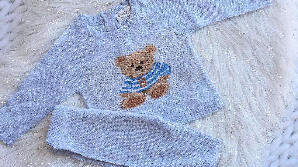 Tommy Teddy Bear Knit Set