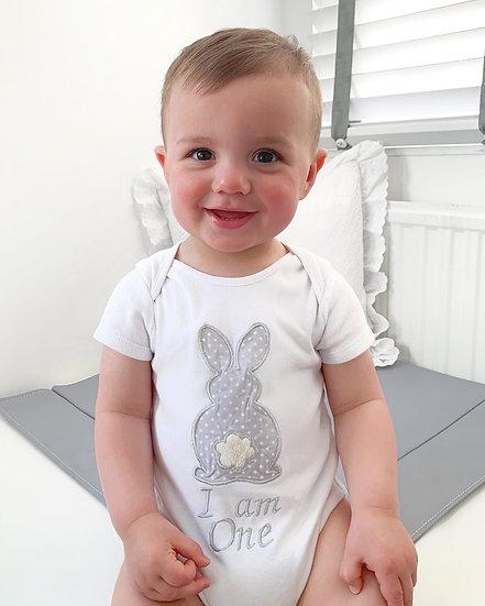 Grey Bunny Bodysuit