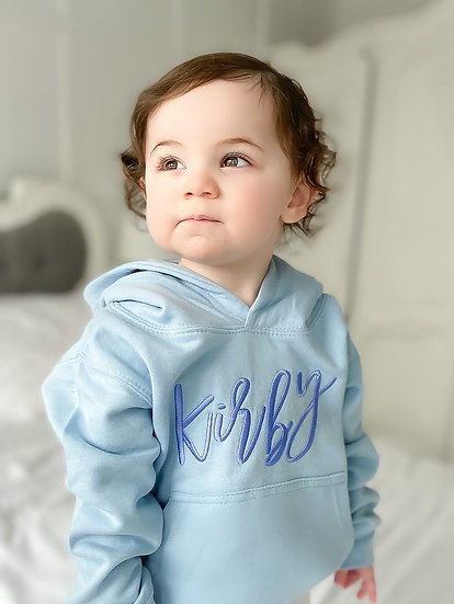 Sky Blue Pullover Oversized Hoodie