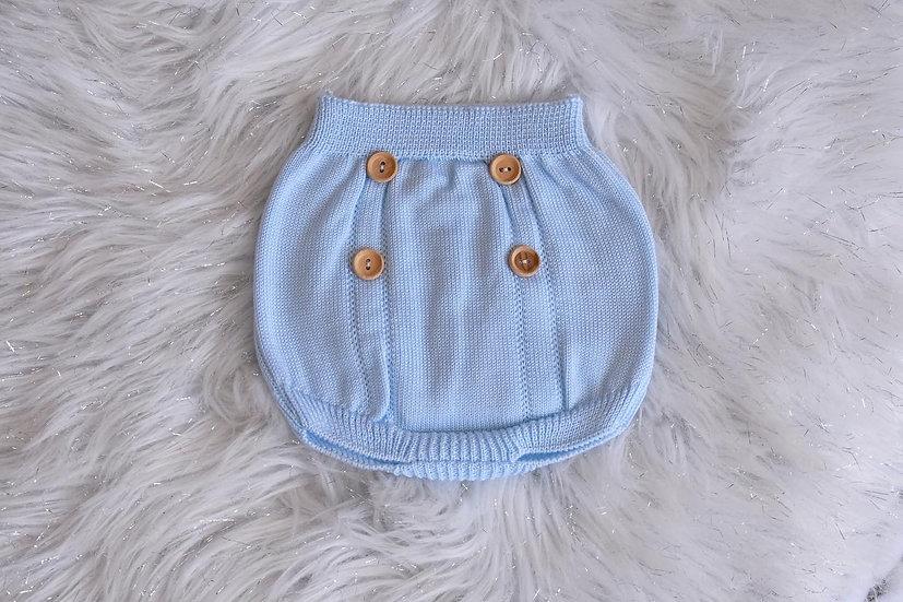 Bertie Blue Knit Bloomers
