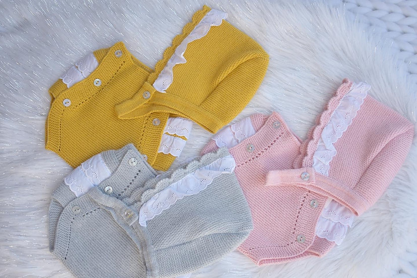 Frilly Knit Pants and Bonnet