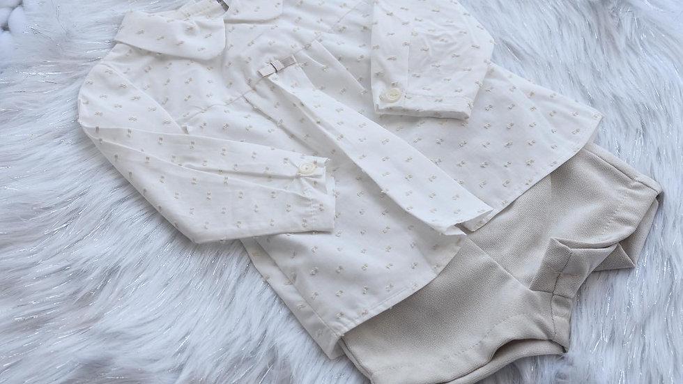Boys Camel Smart Shirt and Shorts