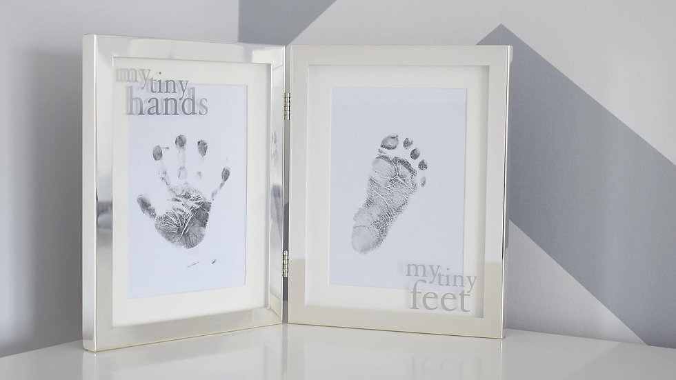 Silver Plated Ink Hand & Footprint Frame