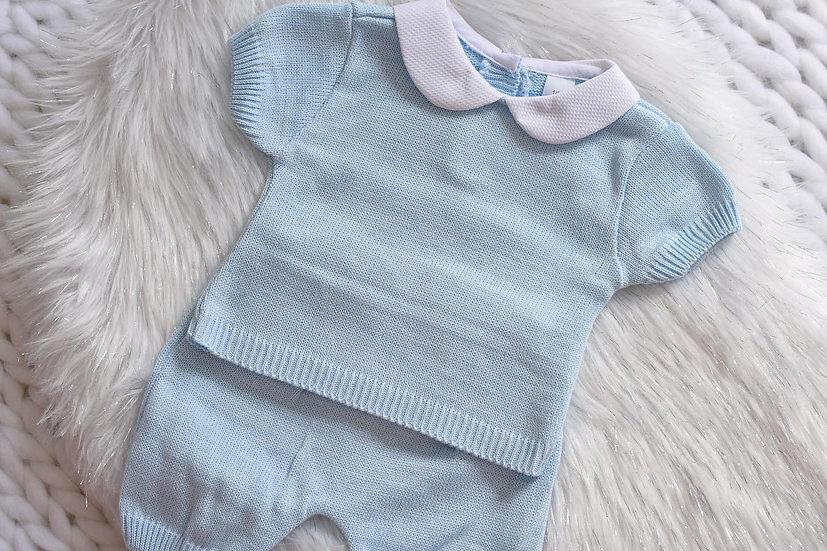 Blue Toddler Knit Set