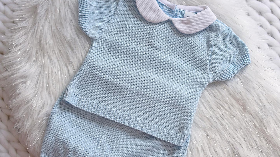 Blue Toddler Knit Set