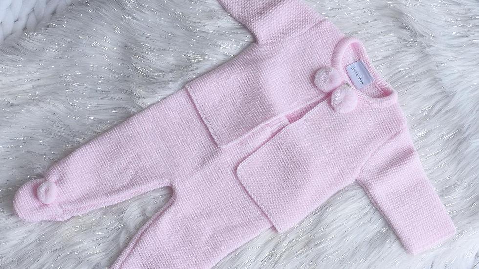 Pink Pom Pom Knit Set