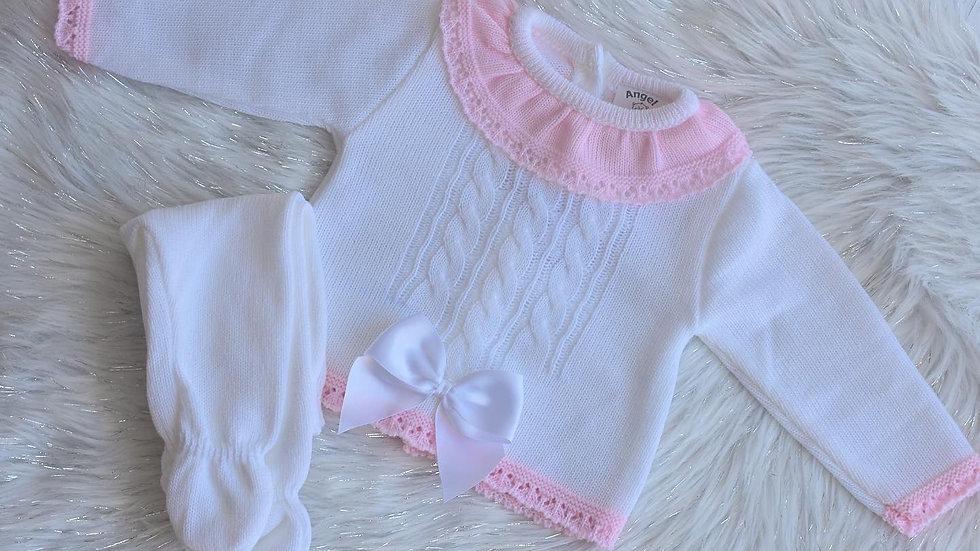 Mila Knit bow Set
