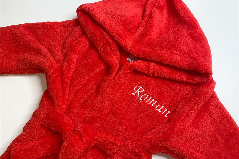 Personalised Red Dressing Gown