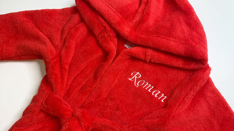 Personalised Red Dressing Gown / Robe