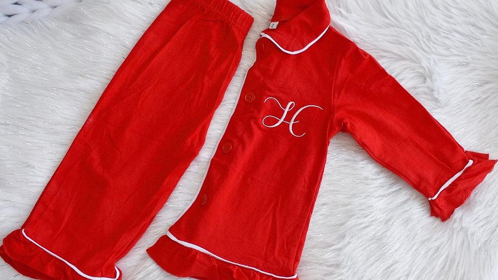 Girls Traditional Christmas Pyjamas