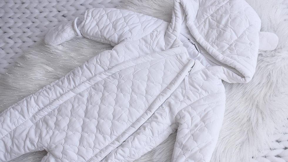 Baby White Cloud Snowsuit