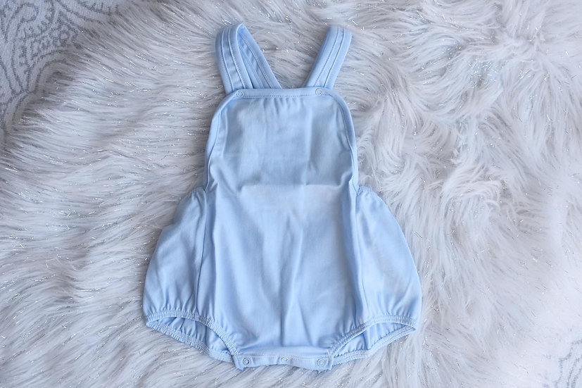 Blue Cotton Dungarees