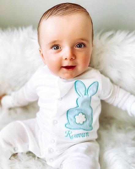 Personalised Bunny Sleepsuit