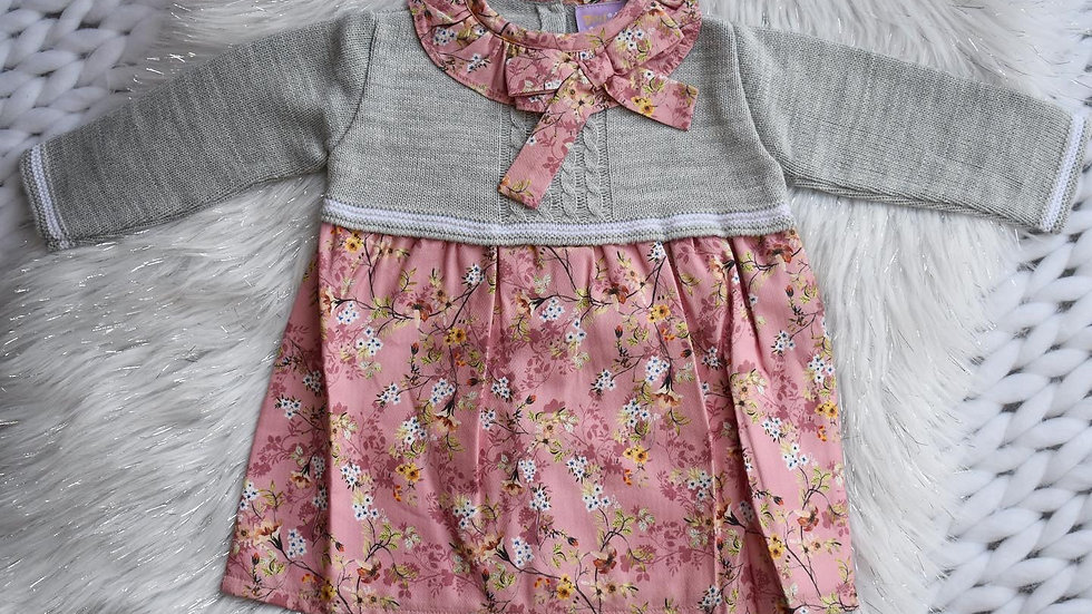 Isabella Floral and Knit Dress