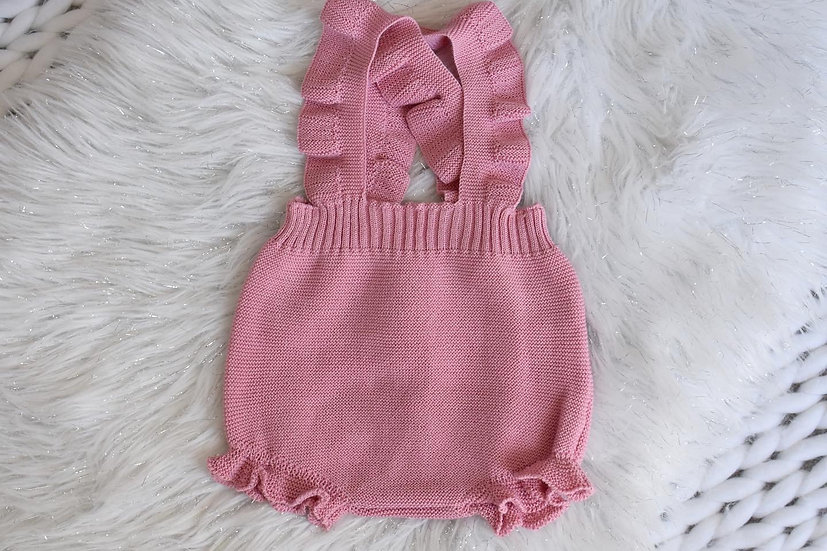 Rosie Dusky Pink Knitted Dungarees