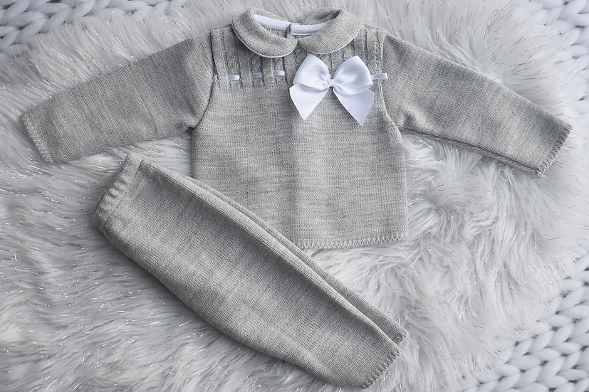 Mae Grey Classic Knit Lounge Set