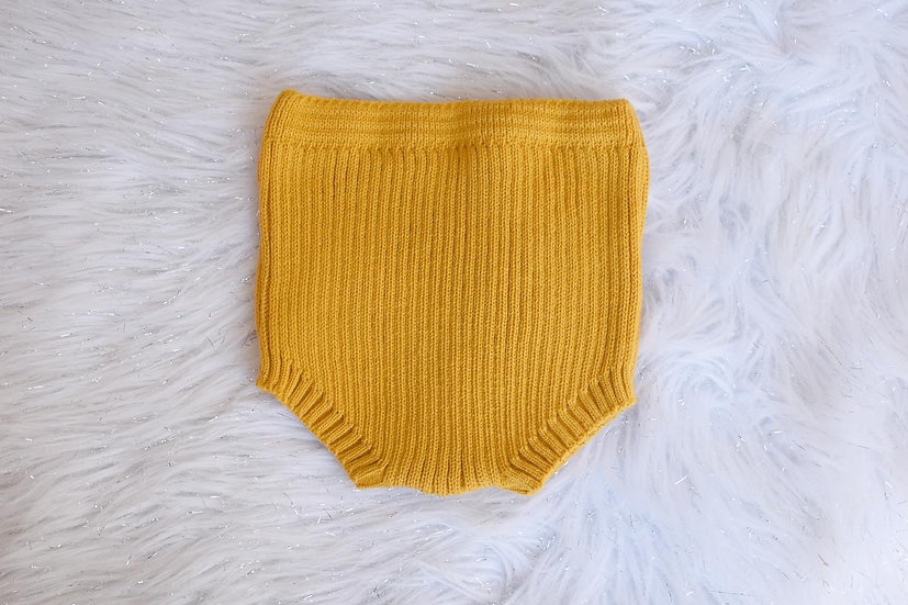 Mustard Knit Pants