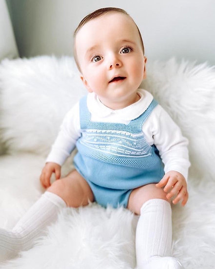 Albie Knitted Dungarees